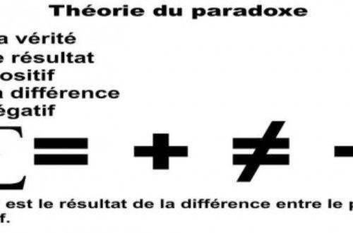 Article : Théorie du paradoxe